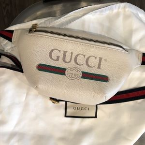 Gucci belt bag white leather